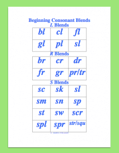 beginning consonant blend screenshot