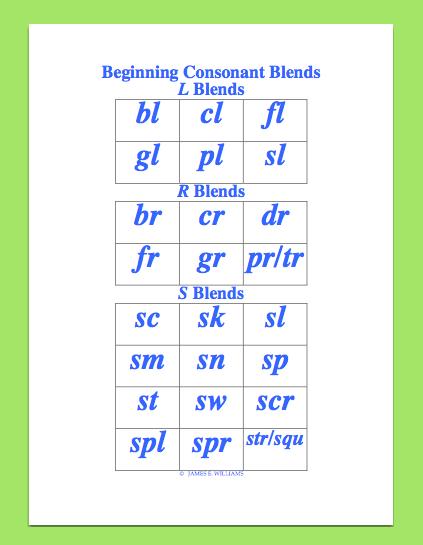 beginning consonant blend screenshot